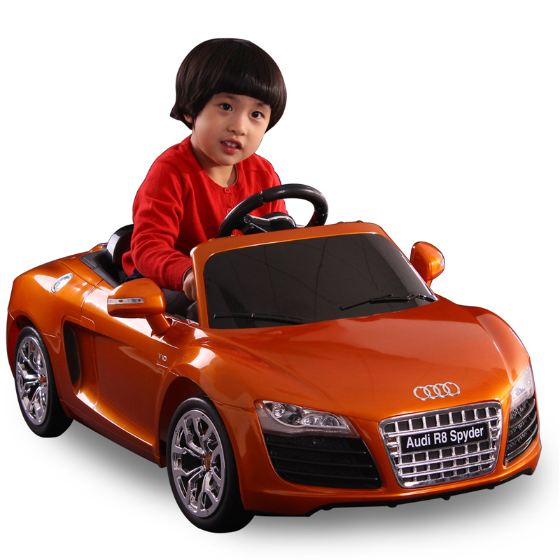 Motorized kids ride on electric cars for audi r8 spyder 1 for Toys r us motorized cars
