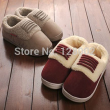 New Arrival Winter Home Thermal Thickening Cotton-Padded Slippers Women Men IndoorFloor Warm Slippers Flat Shoes Free Shipping