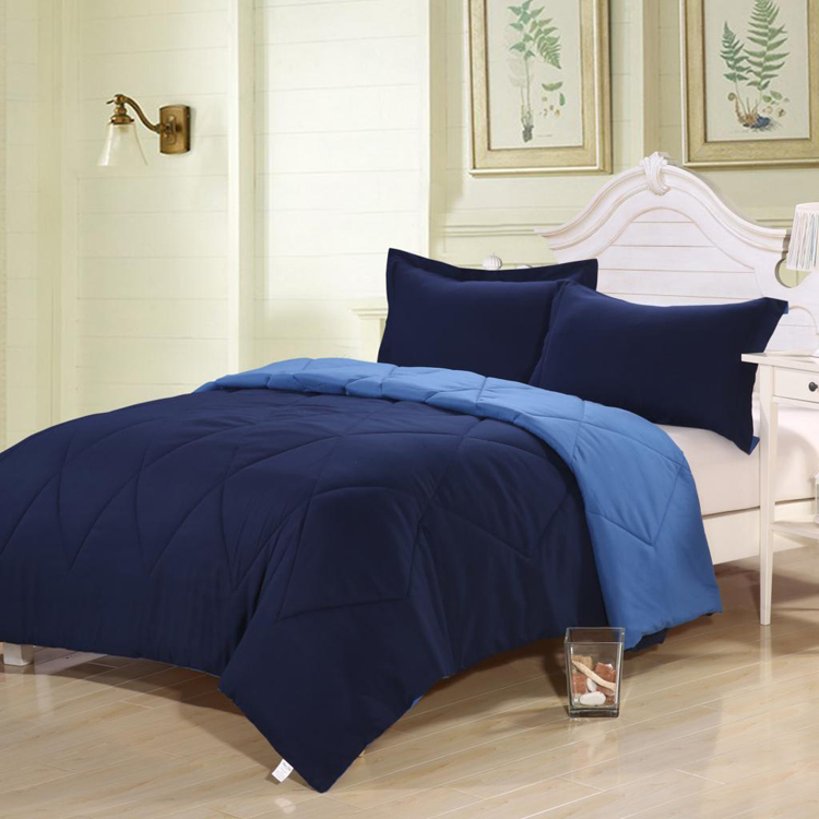 New 3Pc Polyester Brushed Comforter Set Comfortable Hand Feeling King Size Comforter Set Color Cyan Comforter Bedding Sets(China (Mainland))