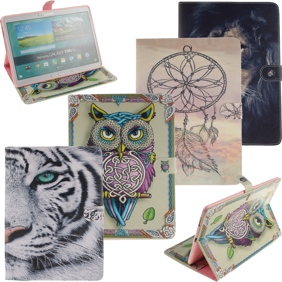 Гаджет  For Samsung Galaxy Tab S 10.5 T800 T805 Case Painting Style PU Leather Stand Case Cover for Samsung Tab S 10.5