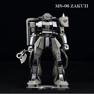 Free shipping 3D Metal Puzzle Diy Assembly pure metal assembled Gundam model puzzles for adults enfeites cubos magicos puzzles(China (Mainland))