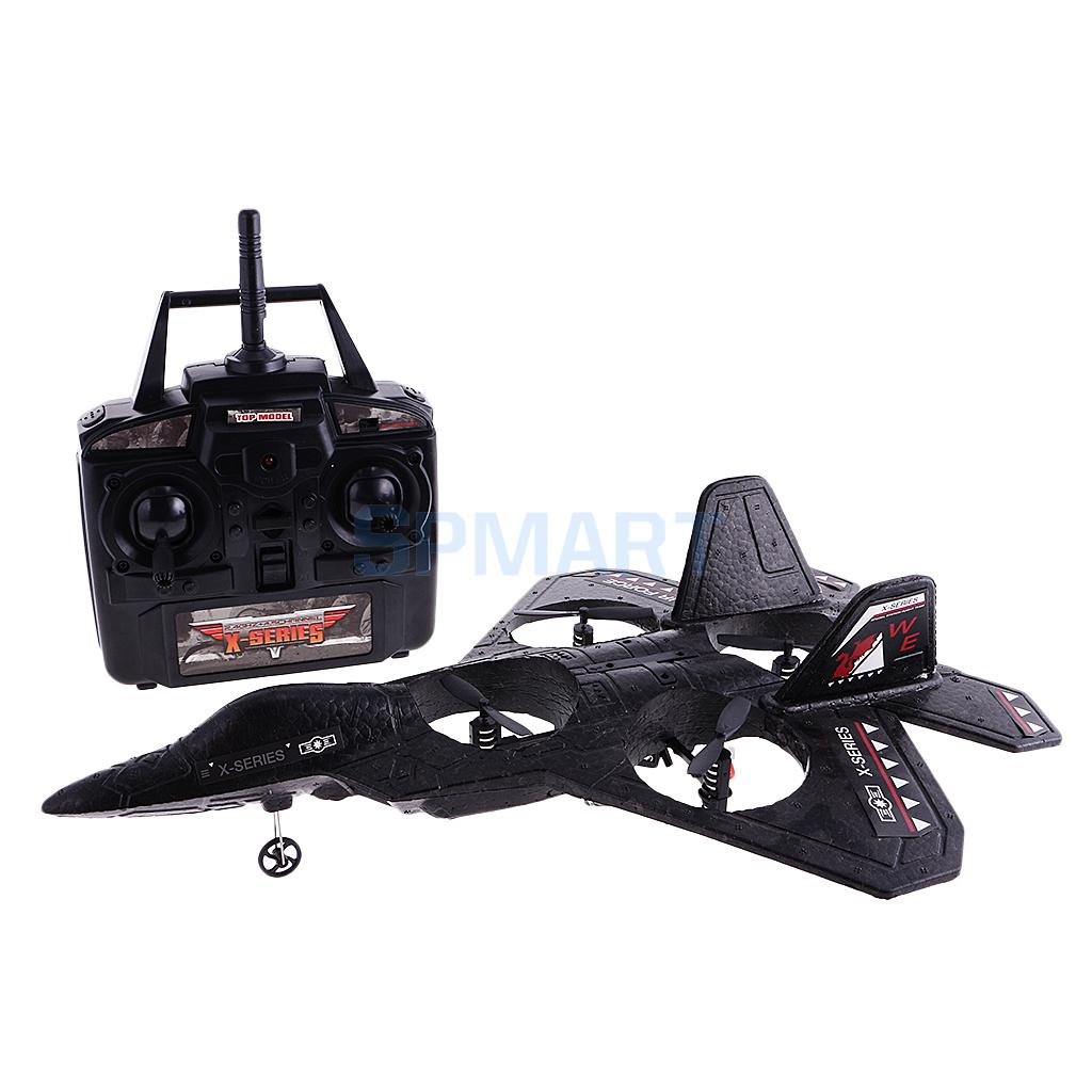 X-Series F22 Fighter Jet 4 CH Channel RC Remote Control Quad Copter Plane Electric RTF Ready to Fly Boys Toy Foam Airplane(China (Mainland))