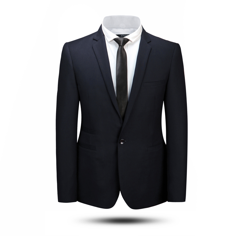 2015 Hot Fashion Men Drak Blue Office Dress Suits Wholesale 80% Wool Black Slim Fit Business Wedding Suit For Boys Free Shipping(China (Mainland))