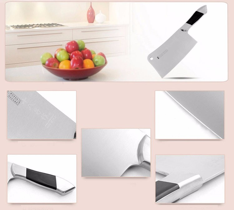 Buy High Quality Forged Handmade Carbon Steel Chop Bone Knife Kitchen Knives Chopping Chef Cut Meat Cleaver Free Shipping cheap