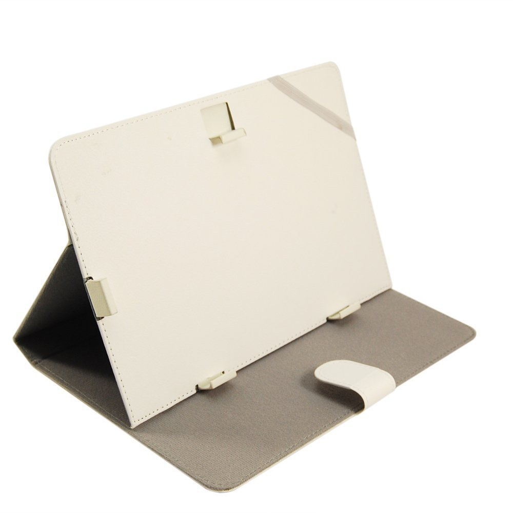 """JYJ PU Leather Stand Folding Folio Case Cover for 10"""" 10.1 Inch Tablet PC Device White(China (Mainland))"""