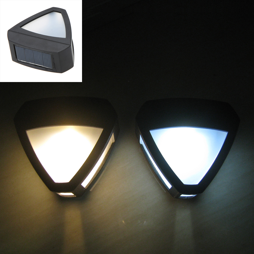 Excellent Quality Automatically Solar Power Two LED Garden Security Lamp Outdoor Waterproof Light Cool White/Warm White(China (Mainland))