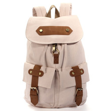 2015 New Stylish Fashion Women Vintage Canvas Satchel Backpack Rucksack Shoulder School Bag Hot Sale