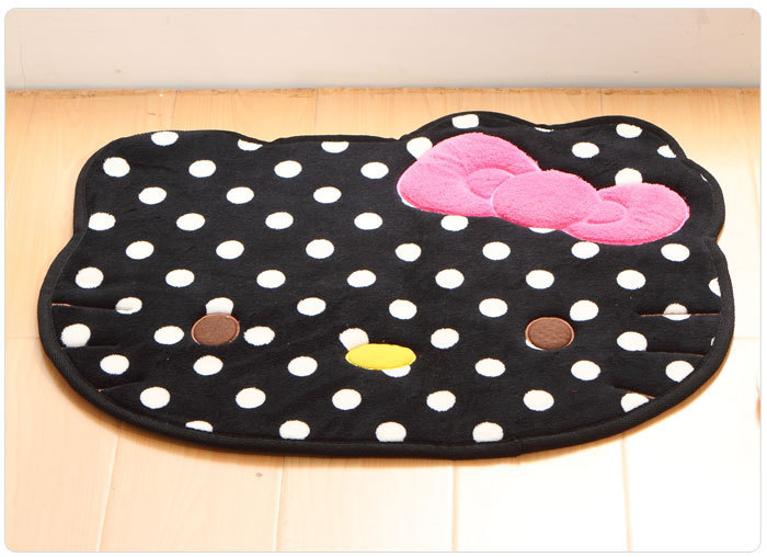 black carpet round tapis hello kitty rug 50 60cm tapetes  ~ Tapetes Quarto Hello Kitty