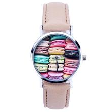 2016 Yoner Watch Fashion Creative Elegant Food Pattern Quartz Watches Women Faux Leather Analog Wristwatch Gift
