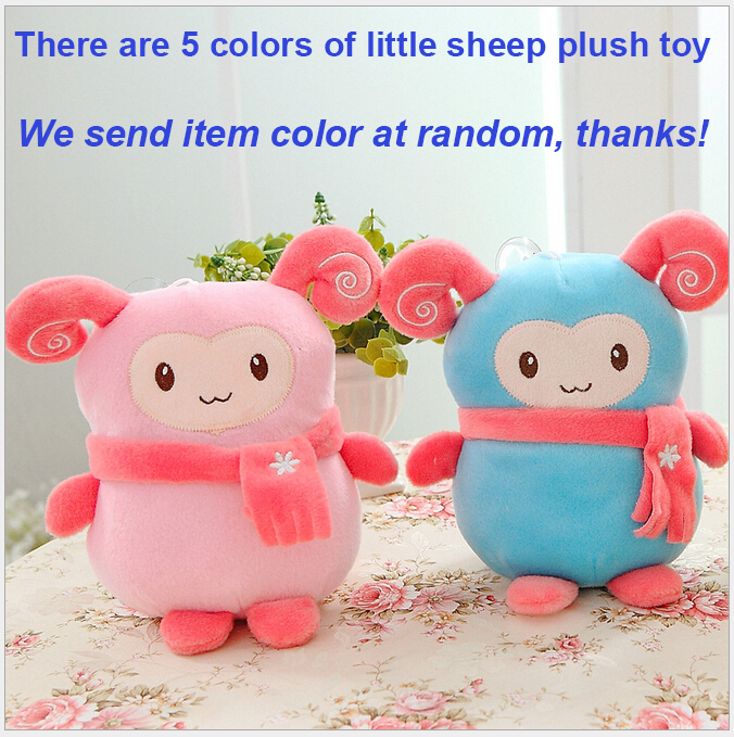 2 PC/Lot Pack Set Cartoon Little Sheep Plush Toys 20CM Cartoon Dolls Soft Stuffed Toy Celebration Kids Girls Gifts Nursery Decor(China (Mainland))