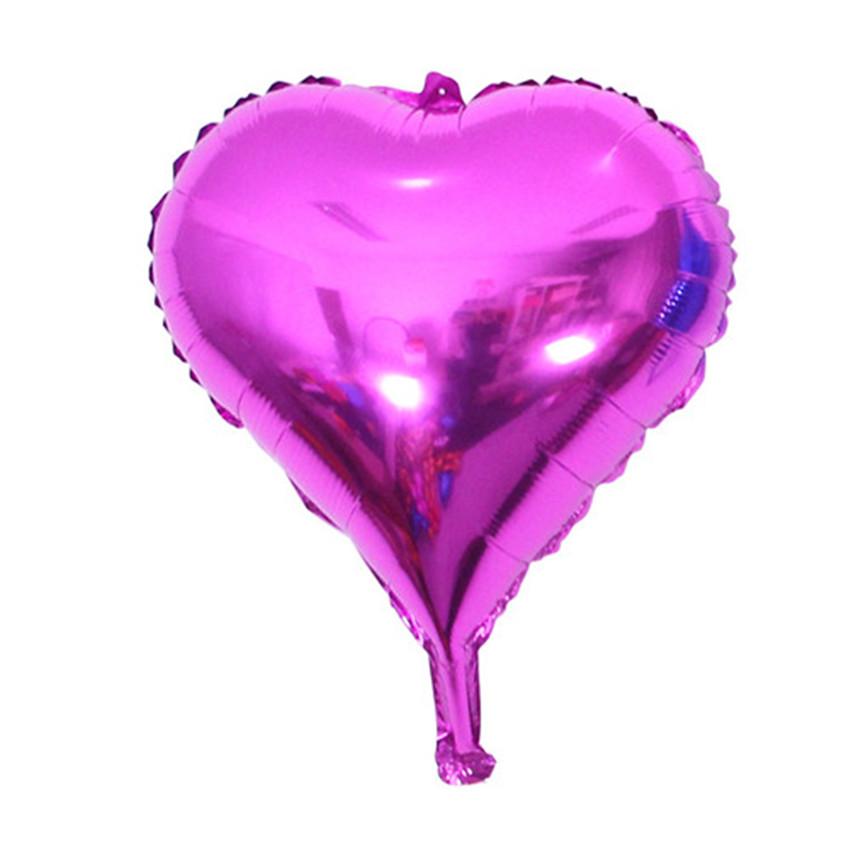 100pcs/lot 5 inch marry wedding party decoration ballon colorful heart balloons aluminum foil balloon globos metalicos helio<br><br>Aliexpress