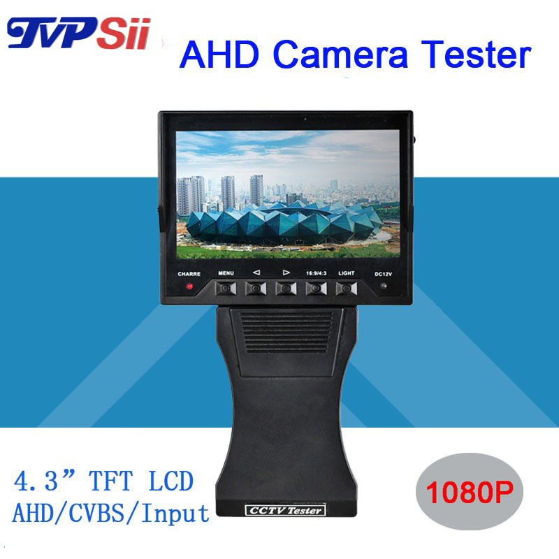 4.3 inch TFT LCD MONITOR COLOR 1080P Grip and Folding AHD CAMERA TESTER With Network Cable Test Freeshipping(China (Mainland))