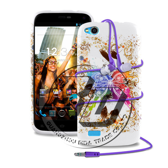 For Blu Life Play L100 High Quality Fashion Design Silicone TPU Soft Case Back Cover With Earphone(China (Mainland))