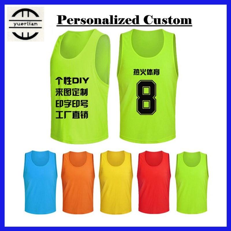 12pcs! Personalized Custom LOGO&Name&Number Pro Soccer Tournament Training Vest,Adult Men&Children Boy Football Sports Mesh Vest(China (Mainland))