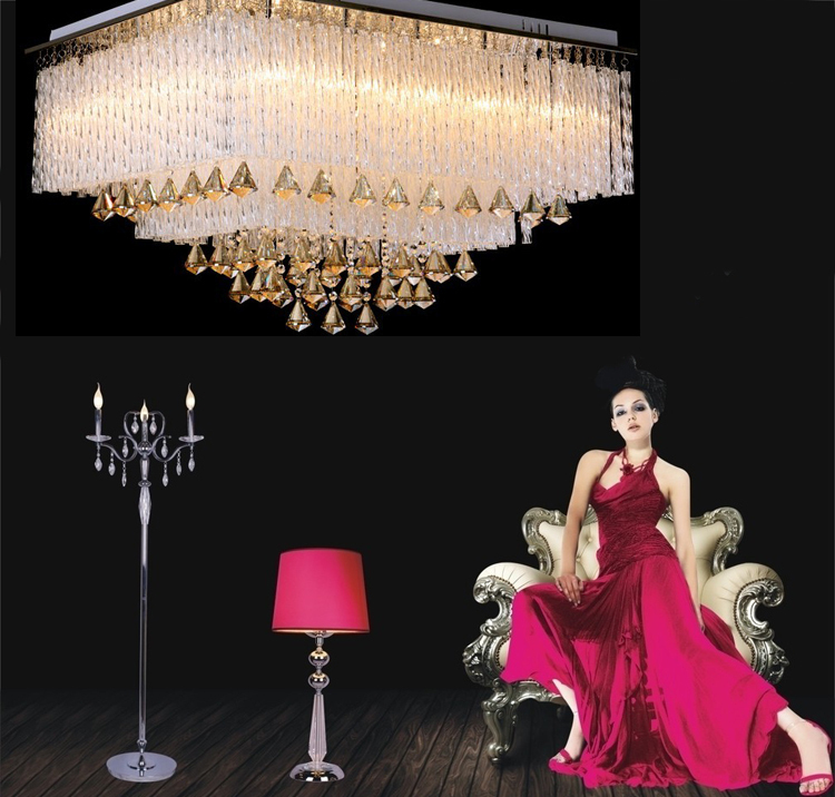 Radio and TV fashion romantic living room lamp crystal lamp power LED ceiling lamps bedroom living room decorative lighting(China (Mainland))
