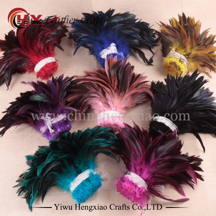 Sale 100pcs / lot cheap pheasant feather, 4-6inch10-15cm, natural color and dyed rooster feathers DIY jewelry accessories