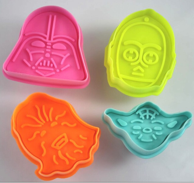 Free Shipping 4pcs Alien Star Wars Shaped Spring Cookies Mold Cake Mold Baking Pastry Dough Decorating Mould Tools 04118(China (Mainland))