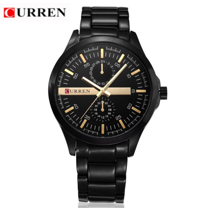 2016 new fashion Curren brand design business army men male clock casual military luxury wrist quartz sport gift watch 8128(China (Mainland))