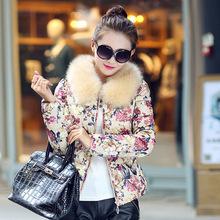 Free shipping New Women's Cotton-padded Jacket Women Outerwear Camouflage Winter Coat Fashion Women coat