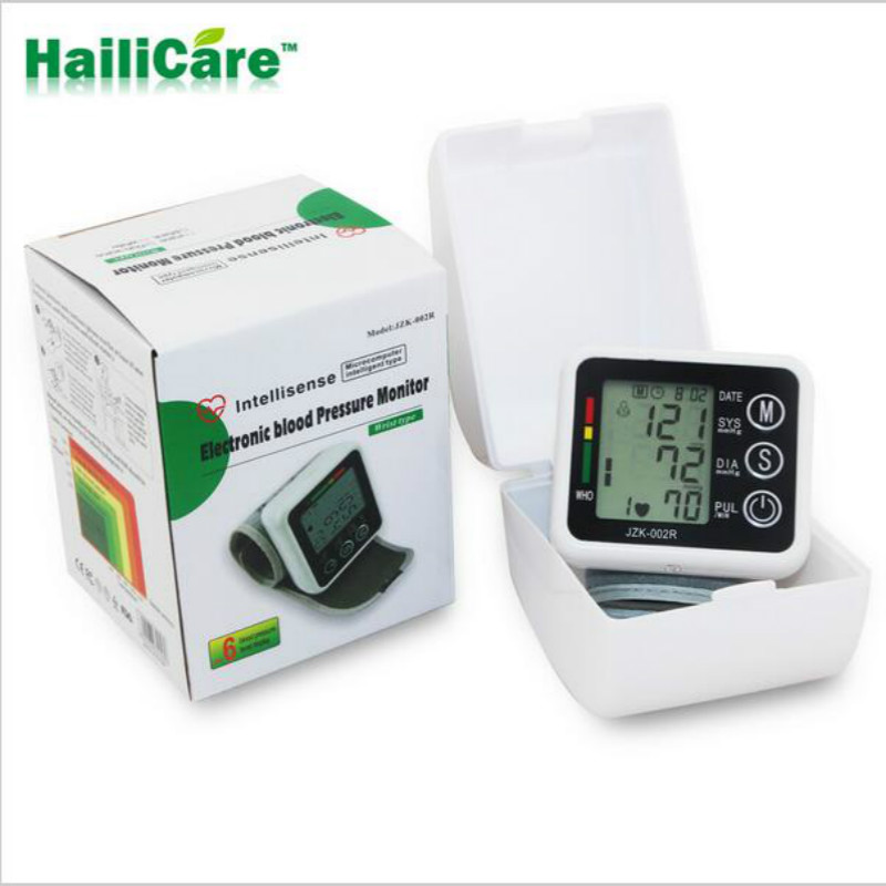Health Care Wrist Blood Pressure Digital LCD Screen Heart Beat Pulse Monitor Meter Cuff Blood Pressure Measure Sphygmomanometer(China (Mainland))
