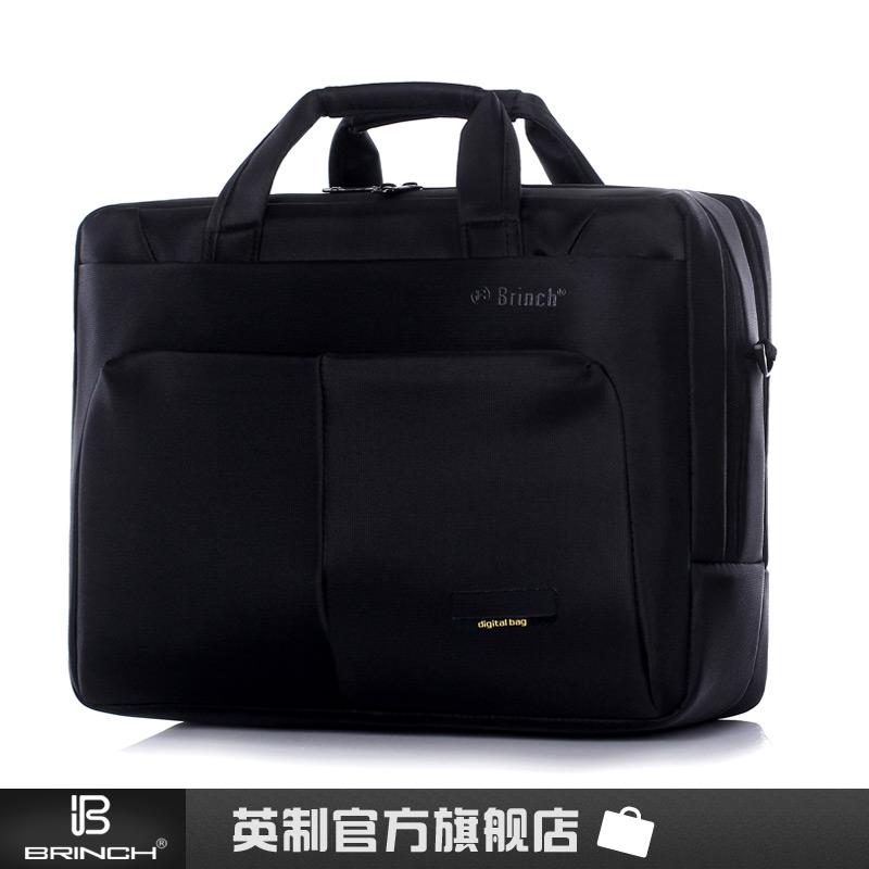 "BRINCH fashion laptop bag 15"" women's laptop bag one shoulder message bags business tablet briefcase nylon(China (Mainland))"