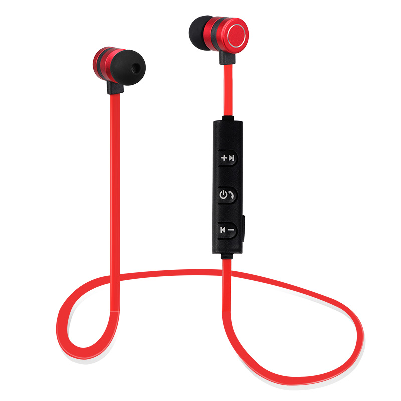 Sports Magnet Bluetooth Earphone Wireless Earbud Stereo Headset With Mic Neckband Magnet Metal Headphone Portable for I7 S8 PC