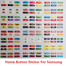 Free Shipping 400Pcs/Lot Cartoon Rubber Home Button Sticker for Samsung Galaxy S4 i9500 S3 i9300 N7100 Enter Key Stickers(China (Mainland))