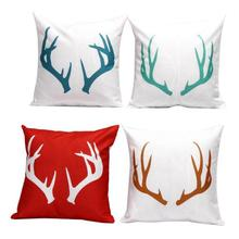 Buy Factory Direct Supply Antlers Pattern Cotton Linen Throw Pillow Sofa Chair Seat Cushion Christmas Decoration Home for $4.44 in AliExpress store