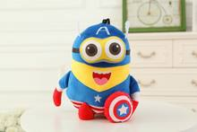 Macio Recheado Super Herói Brinquedos The Avengers Filme Capitão América Homem De Ferro Homem Aranha De Pelúcia Bonecas para As Crianças Presente de Aniversário(China)