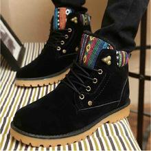 2016 marca hombres impermeables botas de Cuero Genuino cómodo negro de calidad de invierno botines mujeres botas de nieve zapatos DL3019(China (Mainland))