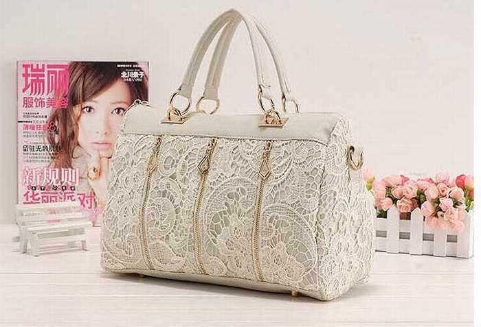 2015 Fashion Women PU Leather Messenger Bag Tote Lace Handbag Hot&Good(China (Mainland))