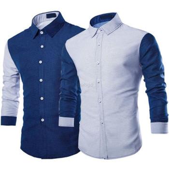 Men Slim Fit Dress Shirts Celebrity Fashion Business Casual Long Sleeve Fomal Shirt Top SH85