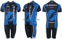New arrived! 2010 GIANT short sleeve cycling wear clothes short sleeve bicycle/bike/riding jerseys+Z123 blue(China (Mainland))