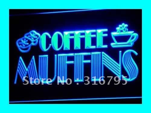 i111-b OPEN Coffee Shop Muffins Cafe LED Neon Light Signs wholeselling Dropshipper(China (Mainland))