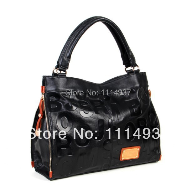 Free shipping Embossing letters package Europe  fashion genuine leather single shoulder hand his female bag<br><br>Aliexpress