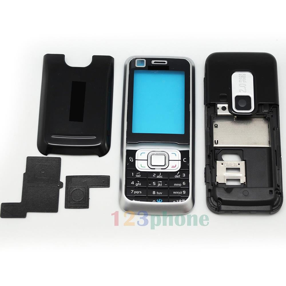 FULL HOUSING CASE BATTERY COVER KEYPAD SCREEN LENS FOR NOKIA 6120 #H458_B