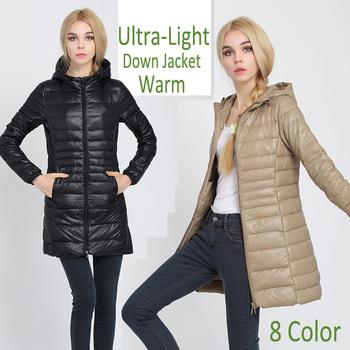 Пуховик с утиным пухом капюшон, зима куртка женщина верхней одежды приталенный женщина тёплый пуховик женщины лёгкие белый