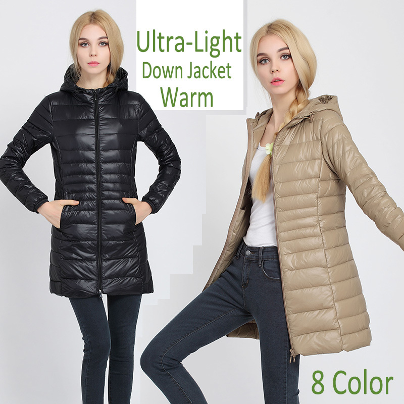 New Winter jacket Woman's Outerwear Slim Hooded Down Jacket Woman Warm Down Coat Women Light White Duck Down Free Shipping(China (Mainland))