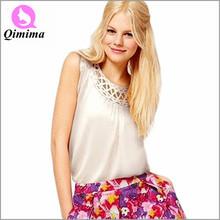 2015 fashion women t-shirt casual lady tank tops cotton O-neck regata feminina solid striped woman T-shirt sleeveless HF-2739(China (Mainland))