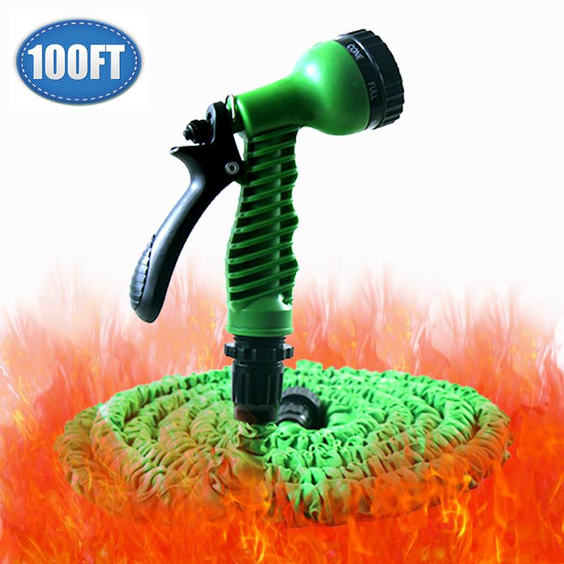 100 pieds flexible extensible tuyau d 39 arrosage pour d 39 irrigation goutte goutte jardin outil. Black Bedroom Furniture Sets. Home Design Ideas