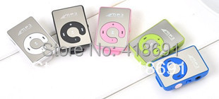 20X Fashionable Sports Mini Mirror Clip MP3 Digital Music Player with Micro SD / TF Card Slot without Retail Box, 6 Colors