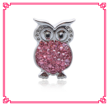 arrive 1 crystal owl snap buttons charms metal button fit diy bracelet jewelry - Cara's Shop For DIY Jewelry store
