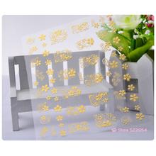 Gold Silver 3d Nail Art Stickers 2sheets Unique Charm Flowers Nail Foils Decals DIY Manicure Nail