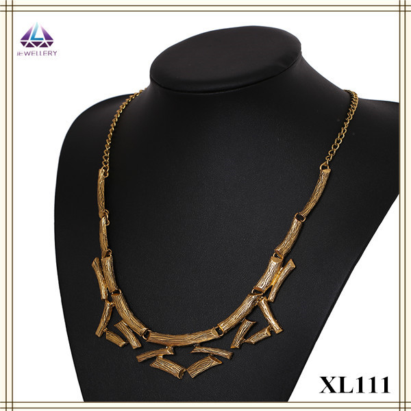 Charming Fake Gold Jewelry African Chocker Necklace With Earring For Women(China (Mainland))