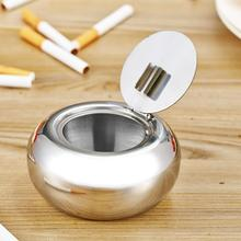 Portable Stainless Steel Cigarette Ashtray Smokers Ash Container Tobacco Tray Brand New(China (Mainland))