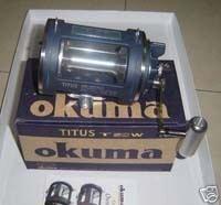 Okuma Titus T 50 W palanca de la pesca de arrastre T50W Trolling