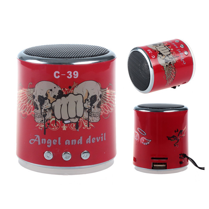 Angel&Devil Mini Wireless Portable speaker Bluetooth speaker With Battery Micro SD TF Crad For Computer&Phone(China (Mainland))
