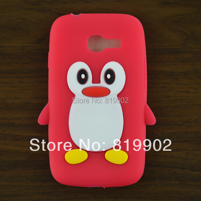 For Samsung Galaxy star pro s7262 s7260 case,Cute cartoon Penguin Silicone Soft back skin case cover + free gift(China (Mainland))