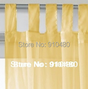 Sheer Voile curtain Tab Top panel Slot Top Voiles plain voile curtain customize size, Free shipping!(China (Mainland))