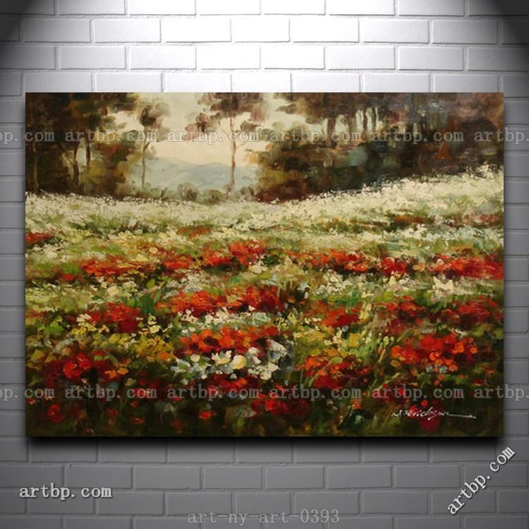 Champs de fleurs promotion achetez des champs de fleurs promotionnels sur ali - Peinture a l huile prix ...